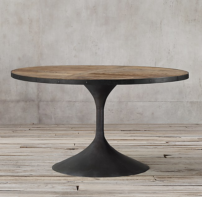 Martens Round Coffee Table Restoration Hardware 36 Inch: Aero Round Dining Table