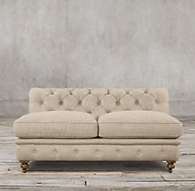"60"" Kensington Upholstered Armless Sofa"
