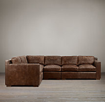 Preconfigured Collins Leather L-Sectional