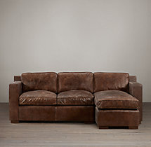 Preconfigured Collins Leather Right-Arm Chaise Sectional