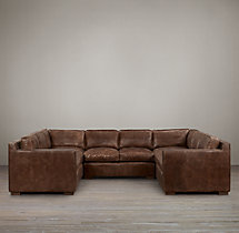 Preconfigured Collins Leather U-Sofa Sectional