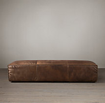 Fulham Leather Coffee Ottoman