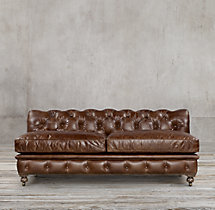 Kensington Leather Armless Sofa