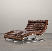 Oviedo Leather Double Chaise