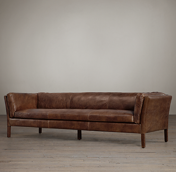 8 39 Sorensen Leather Sofa