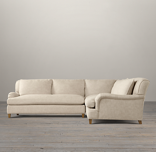 Belgian Classic Roll Arm Upholstered Customizable Sectional