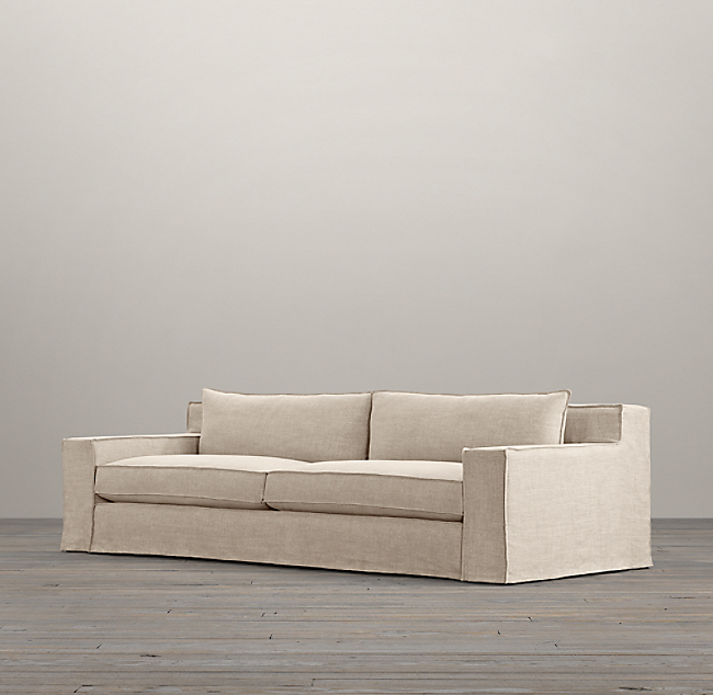 Modern Slipcover Sofa Belgian Track Arm Available Slipcovered Collection Rh Thesofa