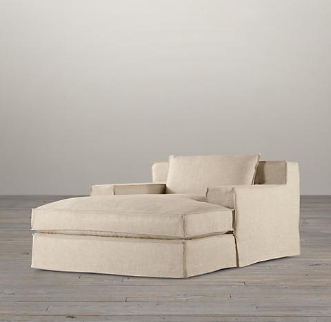 Capri Slipcovered Chaise