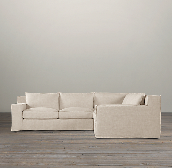 Capri Slipcovered Customizable Sectional