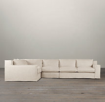 Preconfigured Capri Slipcovered L-Sectional
