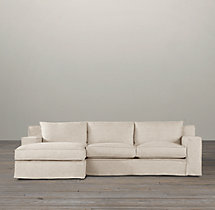 Preconfigured Capri Slipcovered Left-Arm Chaise Sectional