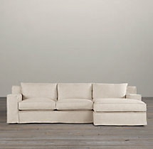 Preconfigured Capri Slipcovered Right-Arm Chaise Sectional