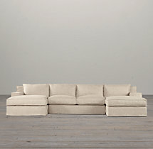 Preconfigured Capri Slipcovered U-Chaise Sectional