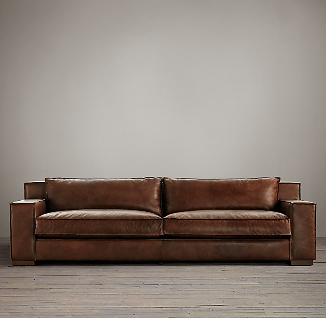Capri Leather Sleeper Sofa