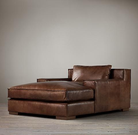 Capri Leather Chaise