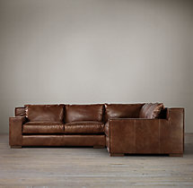 Preconfigured Capri Leather Corner Sectional