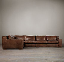 Preconfigured Capri Leather L-Sectional