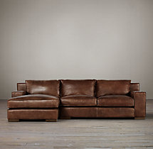 Capri Leather Left-Arm Chaise Sectional