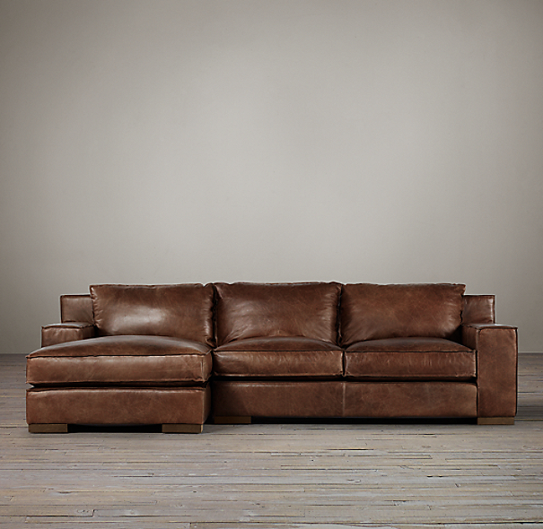 Preconfigured Capri Leather Left Arm Chaise Sectional