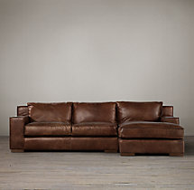 Preconfigured Capri Leather Right-Arm Chaise Sectional