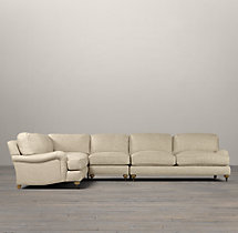 Preconfigured English Roll Arm Upholstered L-Sectional