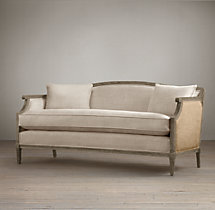 Laurent Salon Bench with Burlap