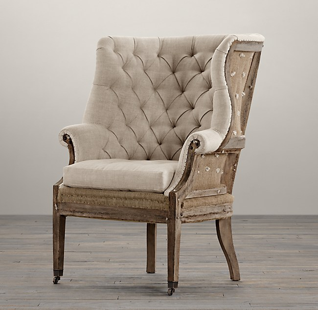 Deconstructed 19th C English Wingback Chair