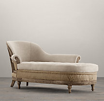 Deconstructed French Victorian Right-Arm Chaise