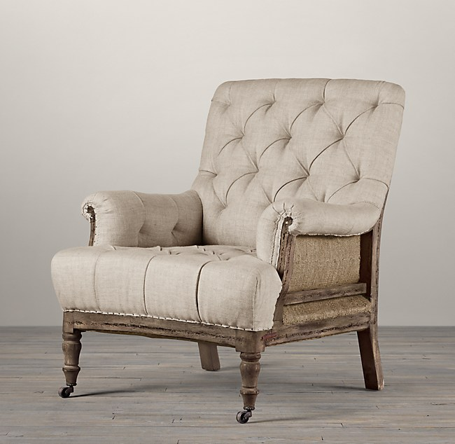 Deconstructed Tufted Roll Armchair