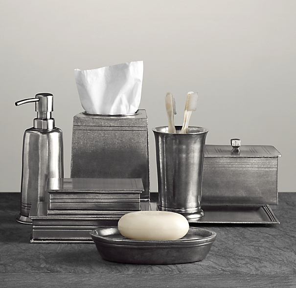 apothecary pewter bath accessories