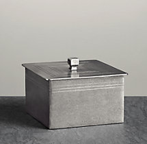 Apothecary Pewter Square Box