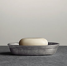 Apothecary Pewter Accessories - Soap Dish