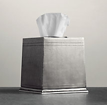 Apothecary Pewter Tissue Cover