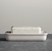 Flatiron Union Stoneware Soap Dish White