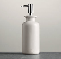 Flatiron Union Stoneware Soap Dispenser White