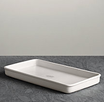 Flatiron Union Stoneware Bath Tray - White