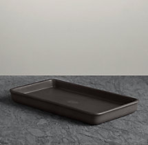 Flatiron Union Stoneware Bath Tray - Charcoal