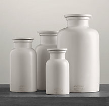 Flatiron Union Stoneware Bottles - White