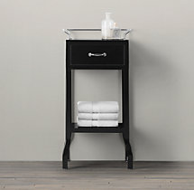 Pharmacy Small Cabinet with Single Drawer Black
