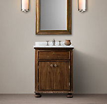 French Empire Powder Room Sink