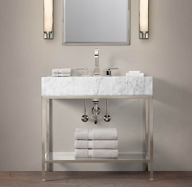 Hudson Metal Single Washstand