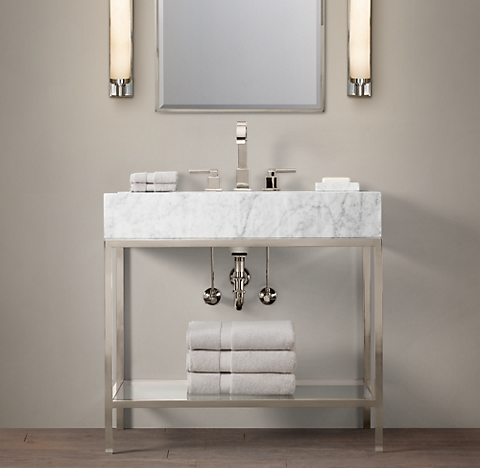 Bathroom Fixtures Restoration Hardware hudson bath collection - polished nickel | rh