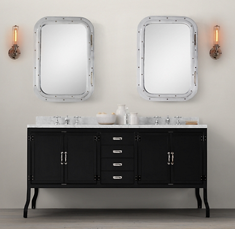 Bathroom Fixtures Restoration Hardware pharmacy bath collection - black | rh