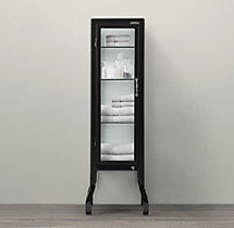 Pharmacy Small Bath Cabinet Black