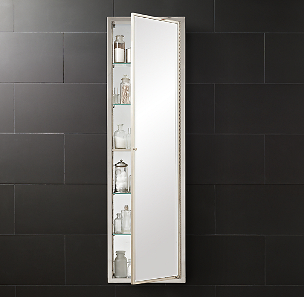 Framed Metal Full Length Medicine Cabinet