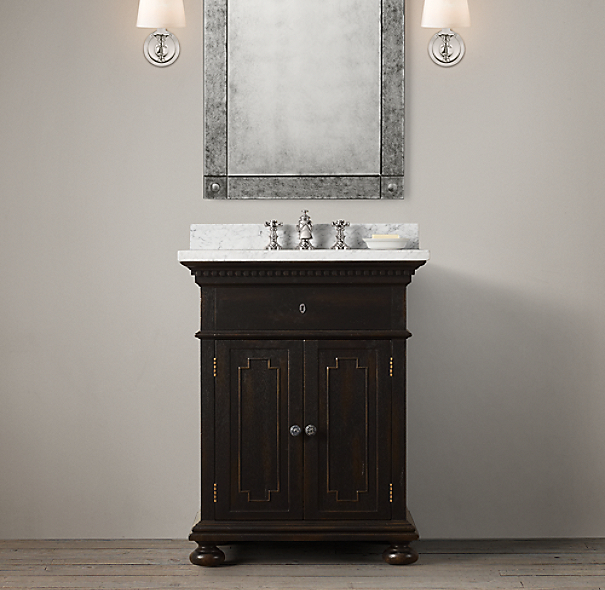 Restoration Hardware Bathroom Vanity Knockoff: St. James Powder Room Vanity