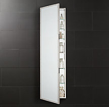 Rivet Full-Length Medicine Cabinet Polished Nickel