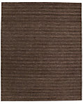 Textured Stripe Wool Rug - Chocolate