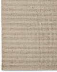Textured Striped Wool Rug - Cream
