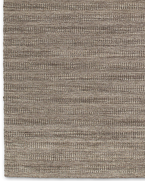 Textured Striped Wool Rug - Marled